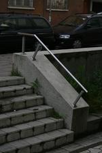 стълбищен иноксов парапет