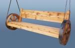 маси и пейки с автентични колела от каруца