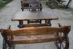 дървена маса с една пейка и 1 стол за механа и кръчма
