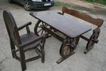 изработка на битова маса с 1 пейка и стол от масив