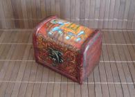 Авторска ръчно декорирана кутия за бижута Luck