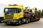 Превоз по поръчка на извънгабаритни товари с товарен автомобил влекач Scania