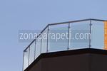 парапети за тераси от стъкло и неръждавейка