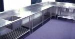 Кухни със шкафове от инокс