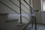 парапет за стълбище от инокс