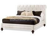 легло Chesterfield в бял цвят