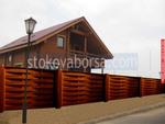 изработка на дървена ограда с пана от чам 200x110см