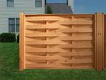 дървени огради от дървени пана 200x110см.