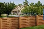 изработка на дървена ограда с пана от чам 200x150см