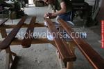 дървени огради боядисани с безцветен лак