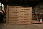 дървена ограда от дървено пано 200x200см.