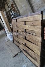 дървени огради по поръчка от дървени пана 200x70см.