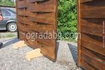 изграждане на дървени огради от чам с дървени пана 200x80см