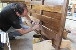 дървени огради от дървени пана 200x90см