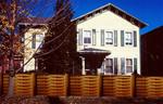 дървени огради от чам по поръчка боядисани с боя по RAL