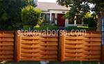 дървени огради от чам боядисани с боя по RAL