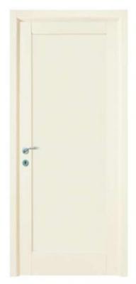 Бели масивни врати - облицовани с ламинат