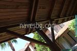 изработка на дървен навес